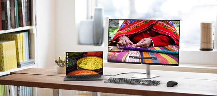 Dell 27 USB-C Ultrathin Monitor: S2719DC |Design that shines. Any way you look.