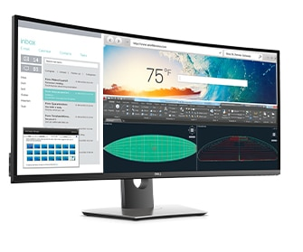 Dell UltraSharp 38 Curved Monitor | U3818DW | Multitask like a pro