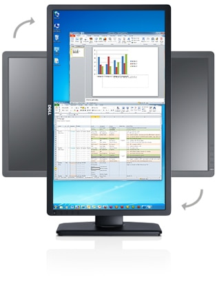 Dell P2412H monitor - Comfortable and convenient for everyone