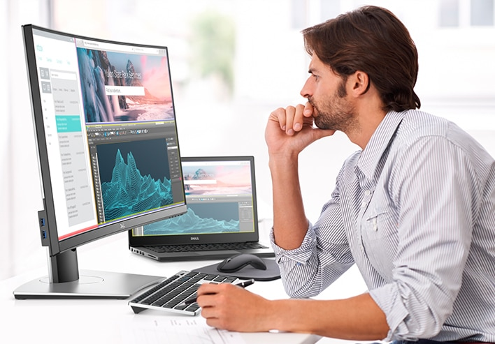 Dell 34 Curved Monitor - P3418HW | Be totally focused