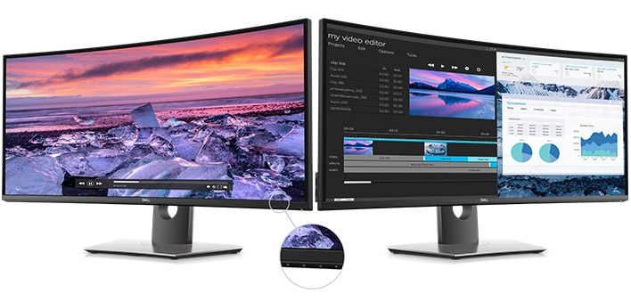 Dell UltraSharp 34 Curved USB-C Monitor:U3419W | Screen performance that shines