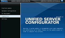 Unified Server Configurator (USC) interface