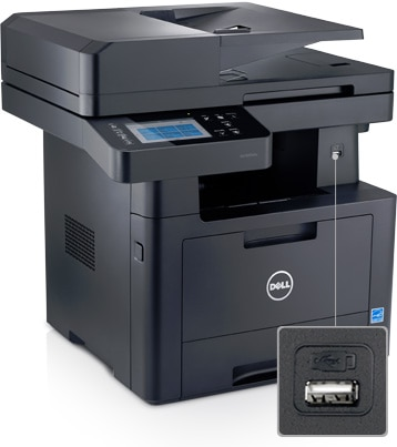 Dell Mono Multifunction Printer | B2375dfw - Print, scan and share easily
