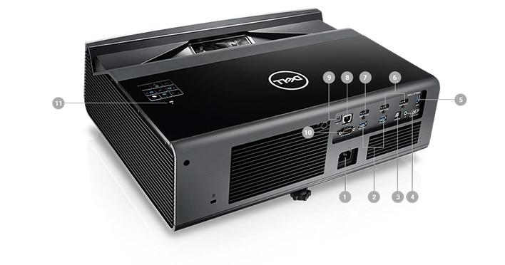 Dell Projector S718QL - Ports and Slots