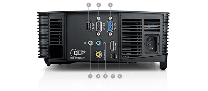 Dell Projector P318S - Ports and slots