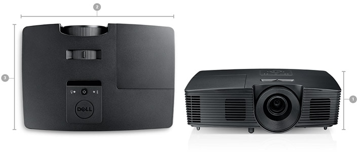 Dell Projector P318S - Dimensions and weight