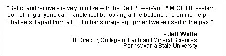 Dell PowerVault MD 3000i - Jeff Wolfe