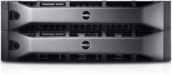 Dell PowerVault MD3200i/MD3220i iSCSI SAN Storage Array - Consolidation = Efficiency