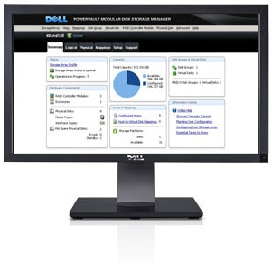 Dell PowerVault MD3200i/MD3220i iSCSI SAN Storage Array - System management is easy
