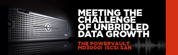 The PowerVault MD3000i iSCI SAN