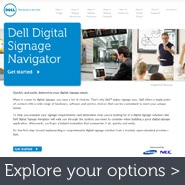 Walk through your digital signage options with the Dell Digital Signage Navigator