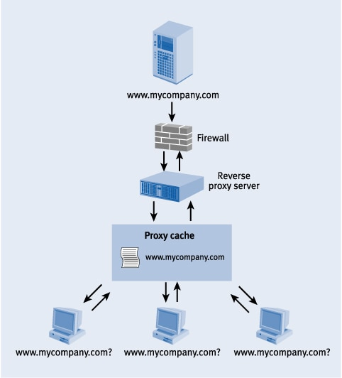 Figure 3. Reverse proxy cache