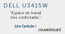 Dell U3415W Espace de Travail très confortable - Les Numériques