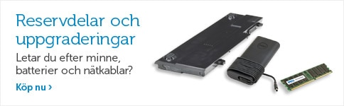 Delar & uppgraderingar till din Dell
