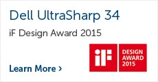 Dell UltraSharp 34 U3415W iF Design award 2015