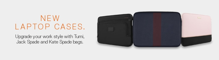 New Laptop Cases. Upgrade your work style with Tumi, Jack Spade and Kate Spage bags.