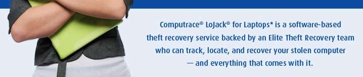 Computrace LoJack for Laptops is a software-based theft recovery service backed by an Elite Theft Recovery team who can track, locate, and recover your stolen computer -- and everything that comes with it.