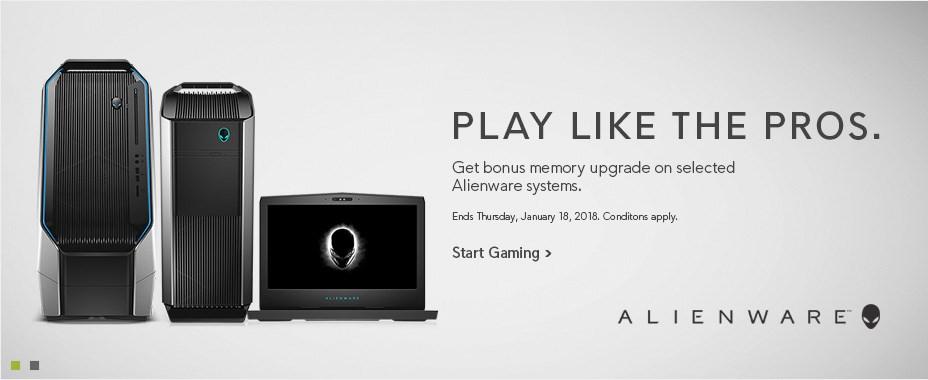 Get bonus storage upgrade on selected Alienware systems.
