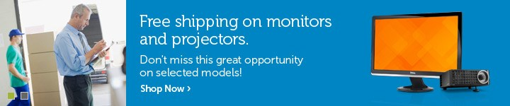 Free shipping on monitors and projectors