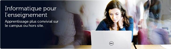 L'informatique pour l'enseignement. Un apprentissage plus convivial sur le campus ou hors site.