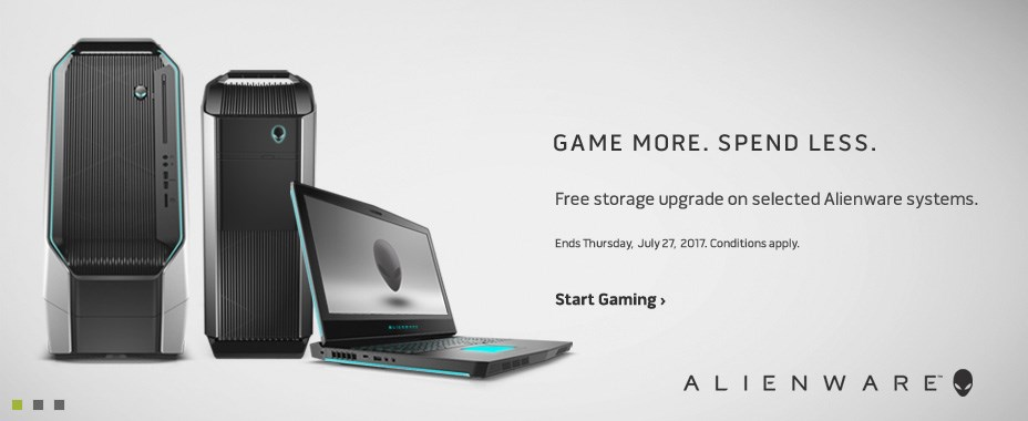 Free storage upgrade on selected Alienware system