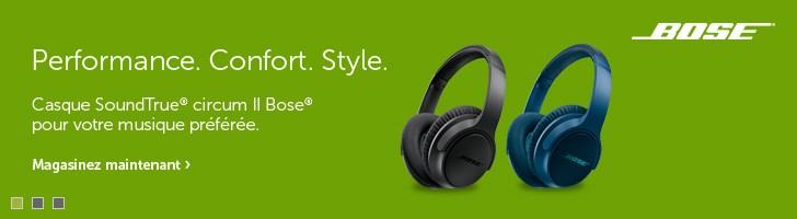 Les casques d'écoute Bose