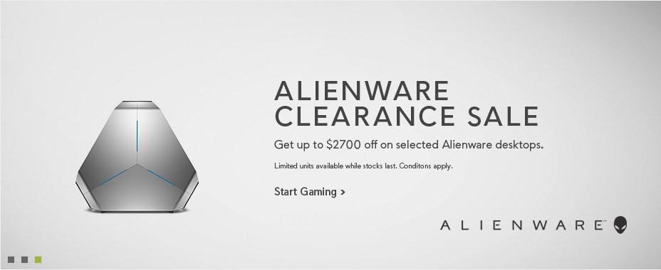 Get up to $2700 off selected Alienware desktops
