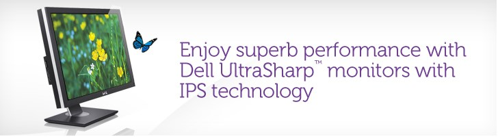 Dell UltraSharp monitors with IPS technology