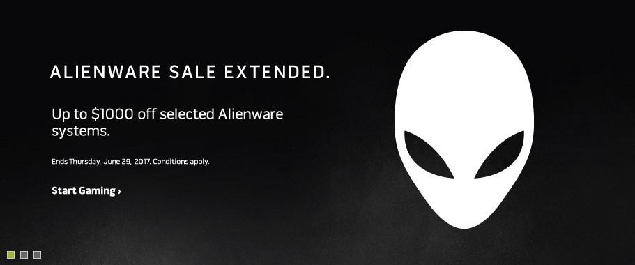 Alienware sale extended