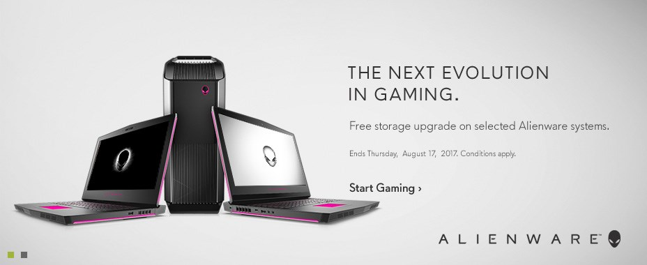 Free storage on selected Alienware systems.