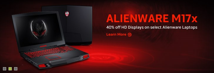 Alienware M17x  - 40% off HD Displays on select Alienware Laptops. | Learn More.