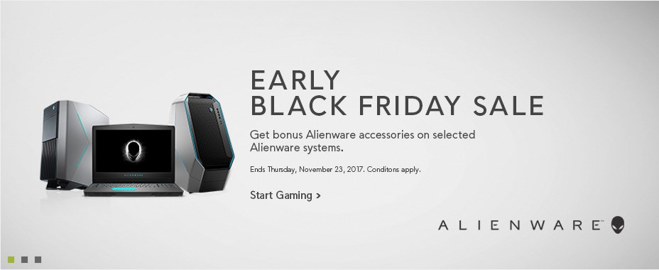 Bonus Alienware accesories on selected Alienware systems