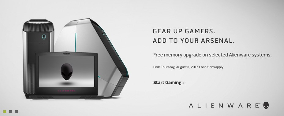 Free memory upgrade on selected Alienware systems