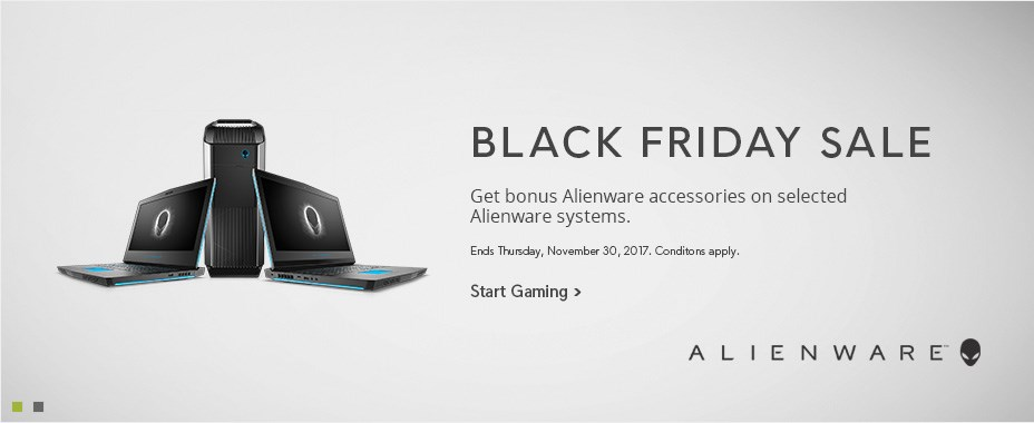 Bonus Alienware accesories on selected Alienware systems