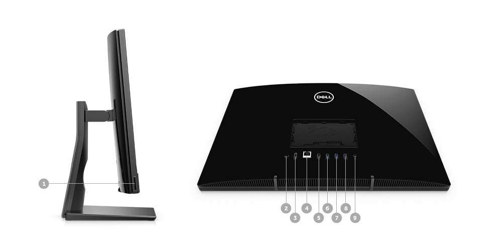 COMPUTADOR ALL IN ONE DELL INSPIRON IONE-3277-M20 - Portas e slots