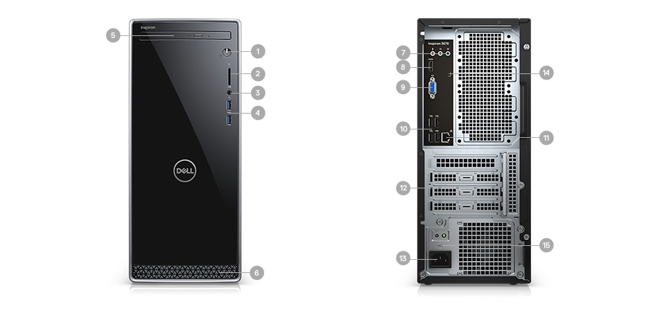 Inspiron 3670 Desktop Computer | Dell Middle East