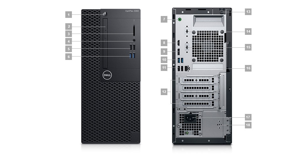 OptiPlex 3060 Tower and Small Form Factor Business Desktop