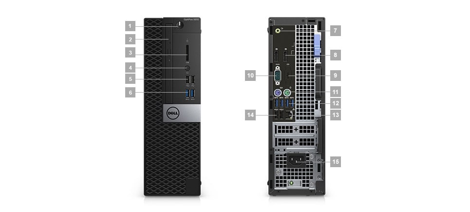 Optiplex 5055 Desktop - Ports & Slots Small Form Factor