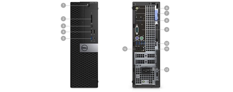 New OptiPlex 7050 Tower & Small Form Factor - Ports & Slots – Small Form Factor