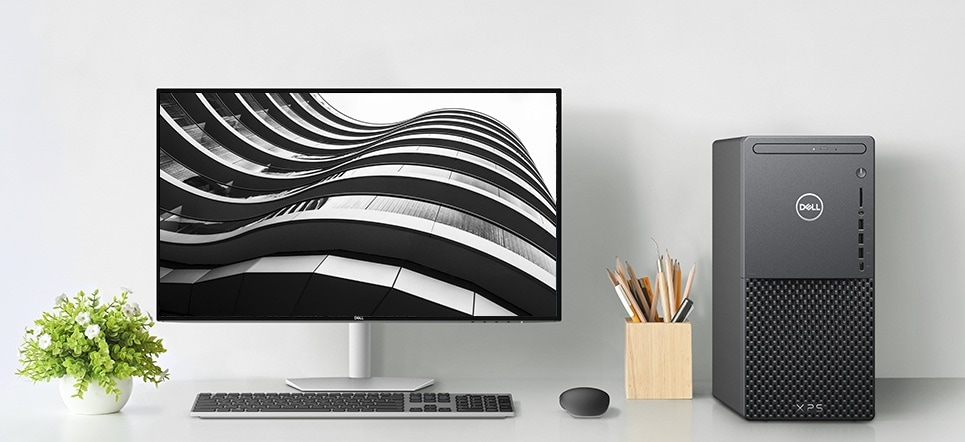 A desktop grounded in minimalism