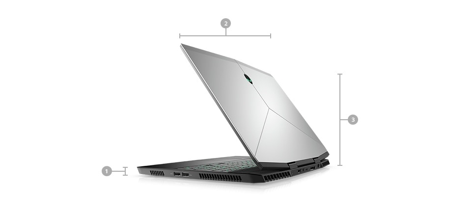 Notebook do gier Alienware m15 — wymiary i masa