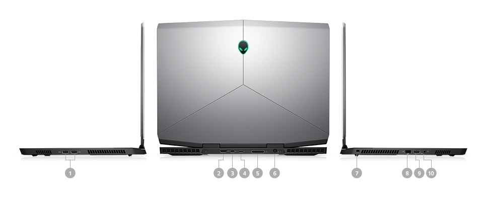 Alienware m15 Gaming Laptop - PORTS & SLOTS