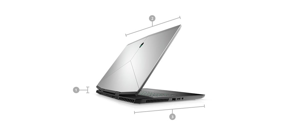 Alienware m17 Gaming Laptop-Dimensions & Weight