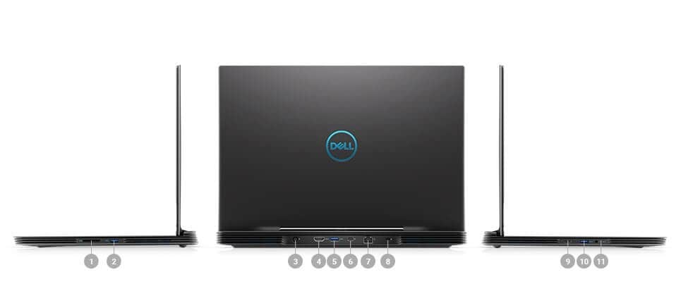New Dell G7 15 Gaming Laptop - PORTS & SLOTS