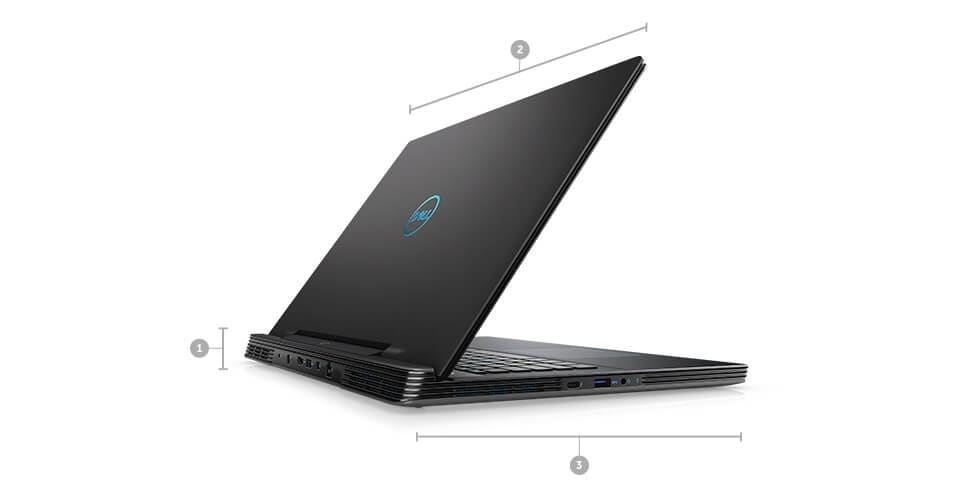 Dell G7 17 Gaming Laptop - Dimensions & Weight