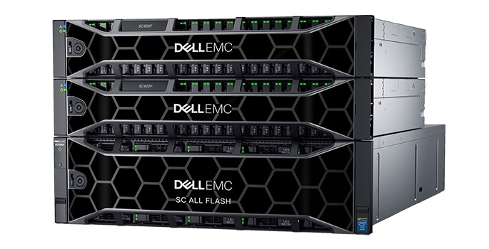 Arreglos de almacenamiento Dell EMC SC All-Flash