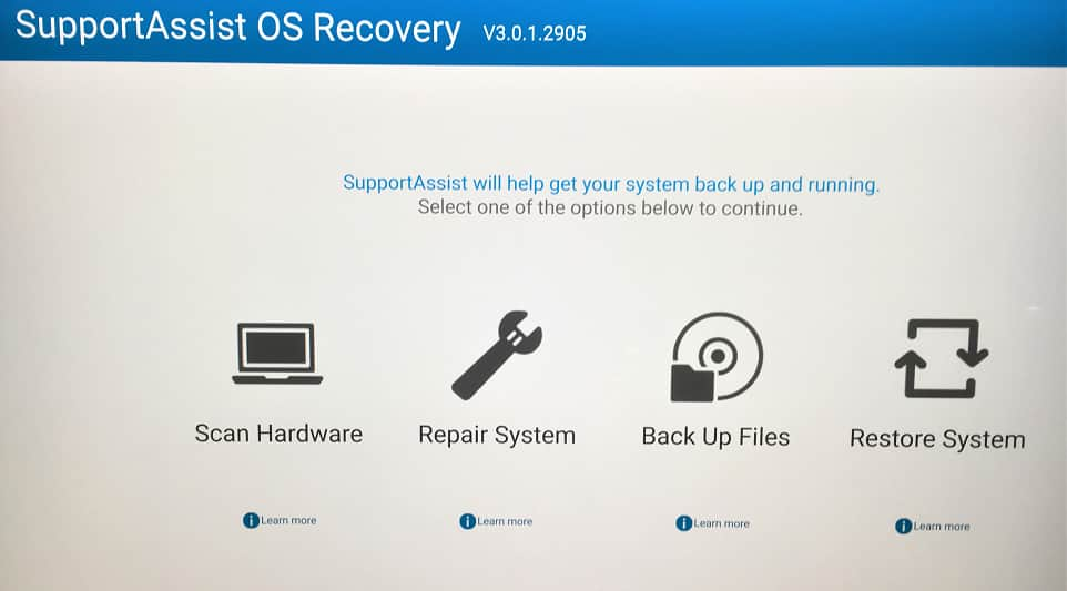 Esupport SA OS Recovery