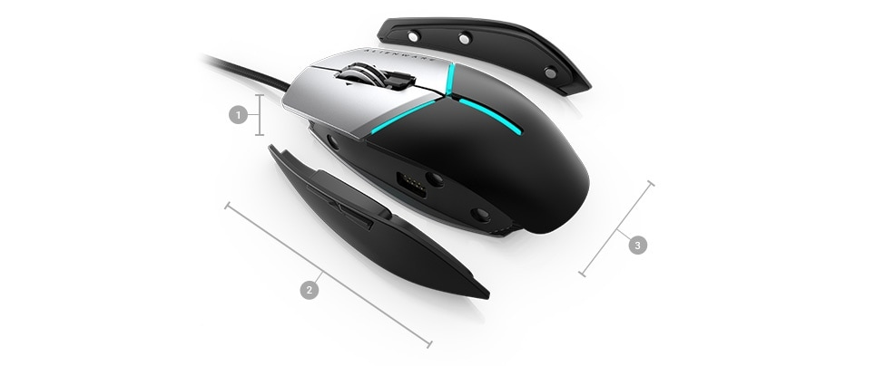 Alienware Mouse AW959 - Dimensions & Weight