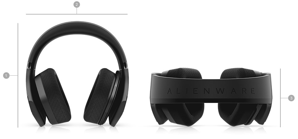Alienware Wireless Gaming Headset AW988 - Dimensions & weight