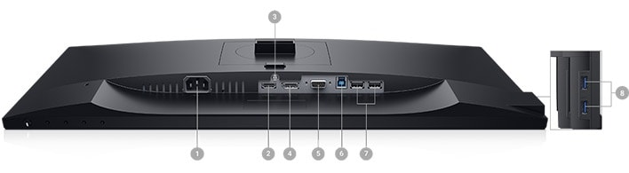 Dell P2719H Monitor - Connectivity Options
